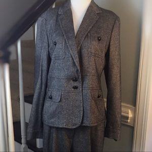 Jackets & Blazers - Tweed Blazer TALBOTS Black Pants Sold Separate